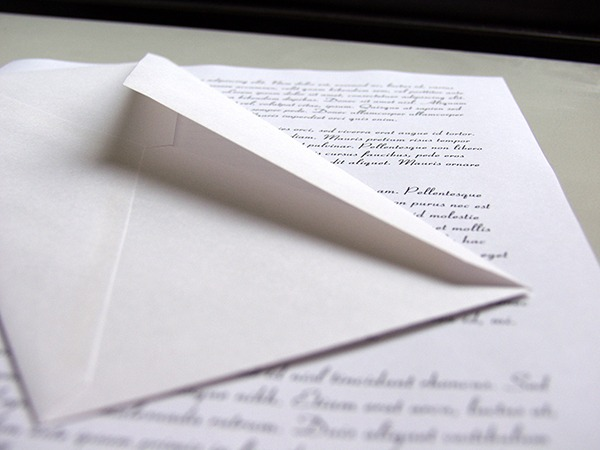Image of an opened letter