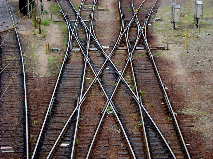 Intersections on a rail track