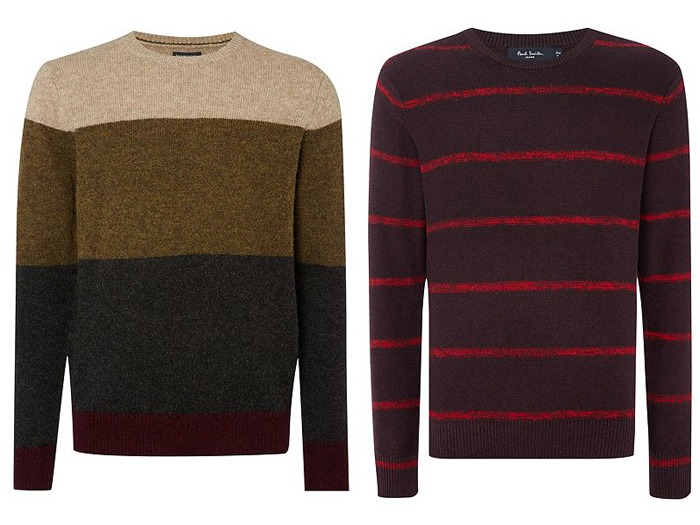 Two colourful jumpers.