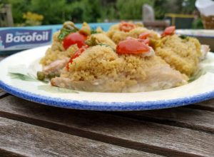Easy barbecue salmon and couscous parcels with Bacofoil.