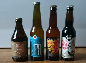 A selection of bottled beers.