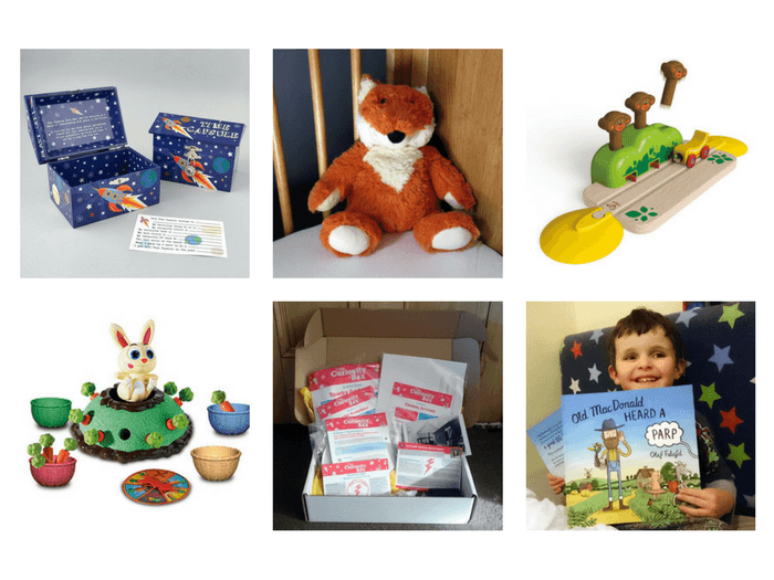 A selection of alternative Easter gift ideas for kids.
