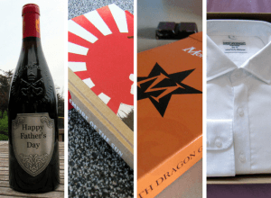 A selection of Father's Day gift ideas.