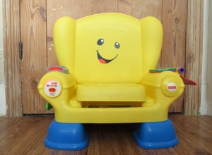 The Fisher-Price Laugh & Learn Smart Stages chair.