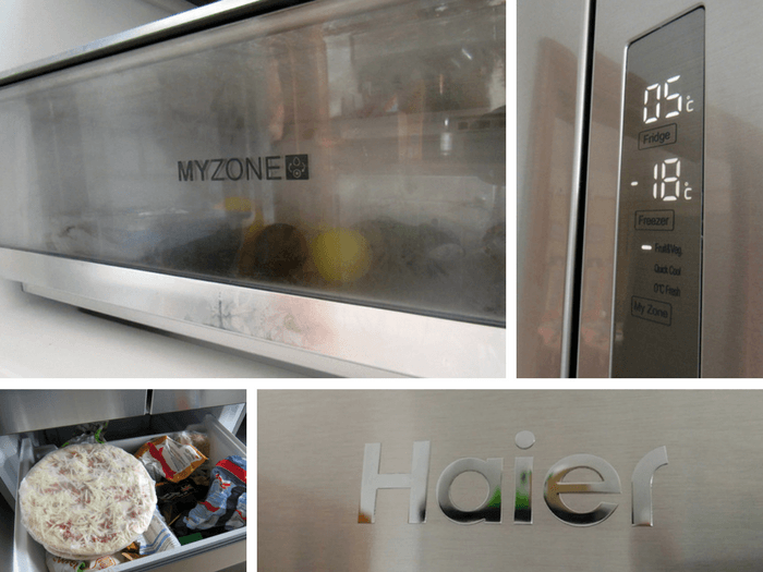 Various images of the Haier multi door fridge freezer.