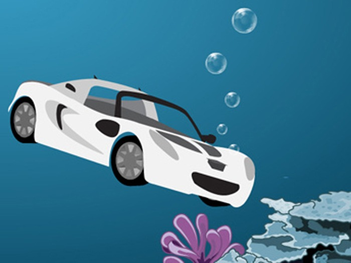 An underwater car.