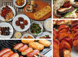 A selection of food from Iceland for National Barbecue Month.