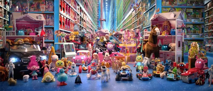 A still from the Smyths advert, demonstrating the importance of toys.