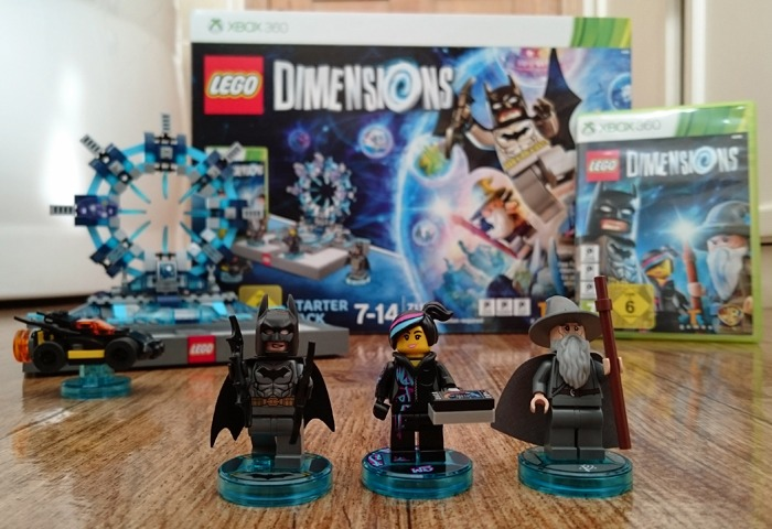 The LEGO Dimensions set including figures, game and toy pad.