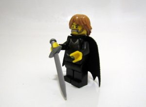 A homemade LEGO model of Ned Stark from Game of Thrones.