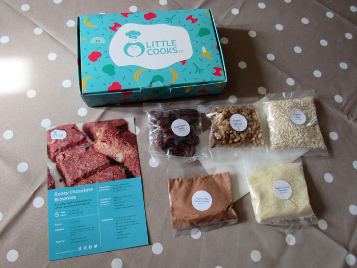 The contents of a Little Cooks Co box.