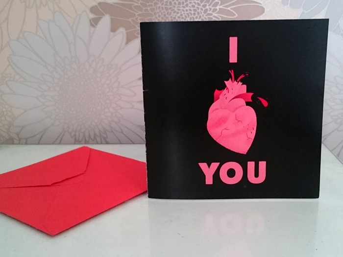 A Valentine's card.