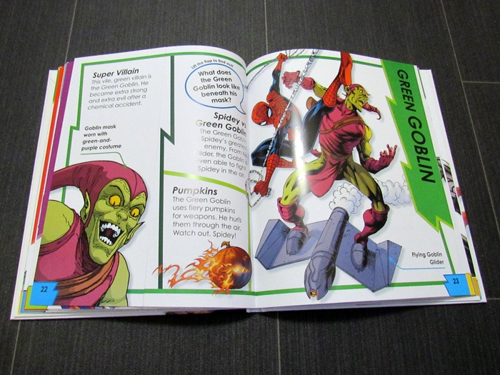 The inside of a Spider-Man book.