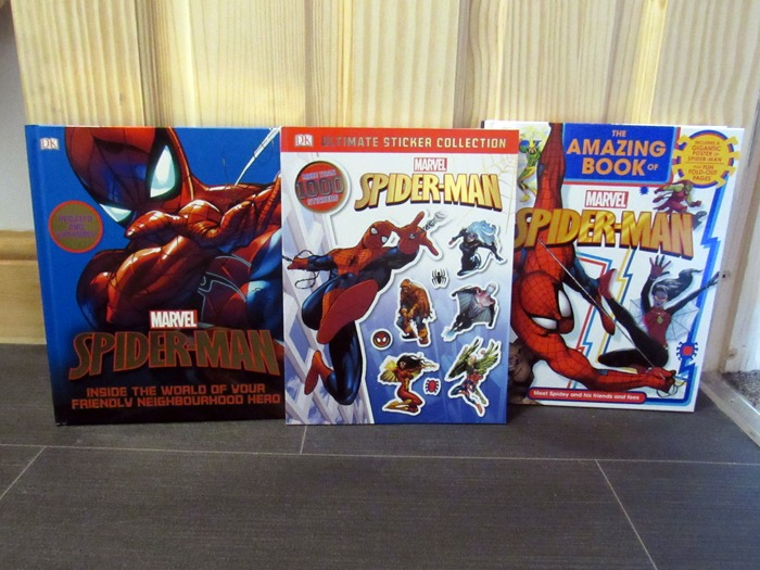 A selection of Spider-Man books.