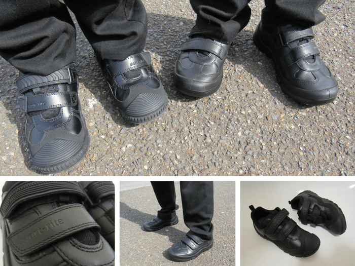 A selection of images showing Start-rite school shoes.