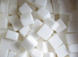 A large number of sugar cubes.