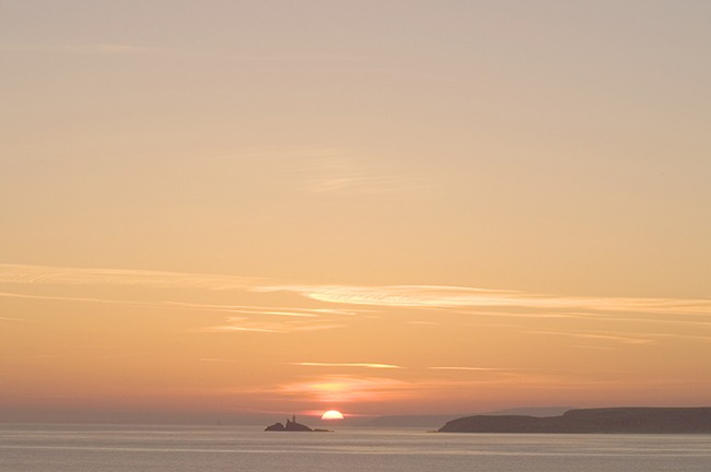 Another image of a beautiful sunrise over the sea.