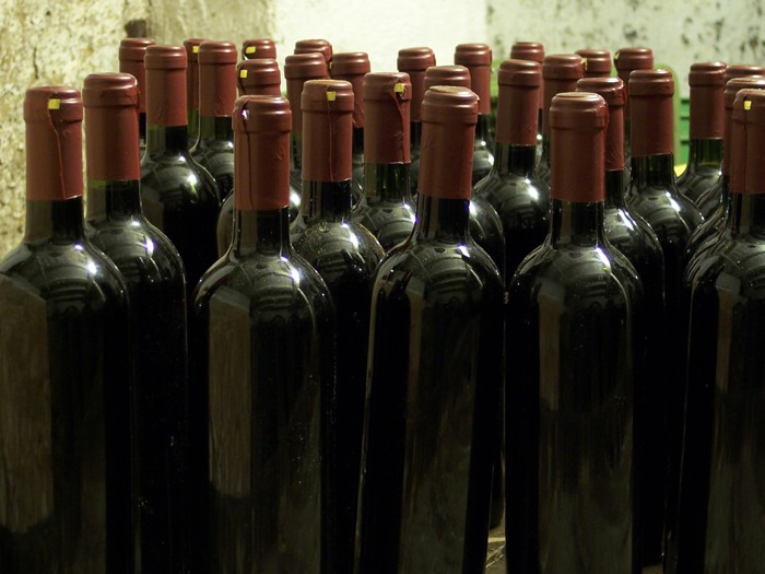 Several bottles of red wine