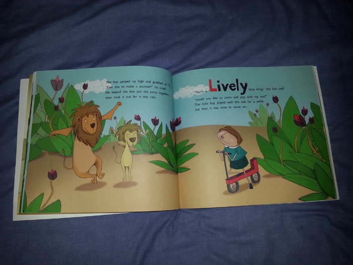 A colourful children's book.