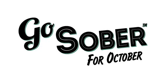 A banner with the slogan 'Go Sober for October'.