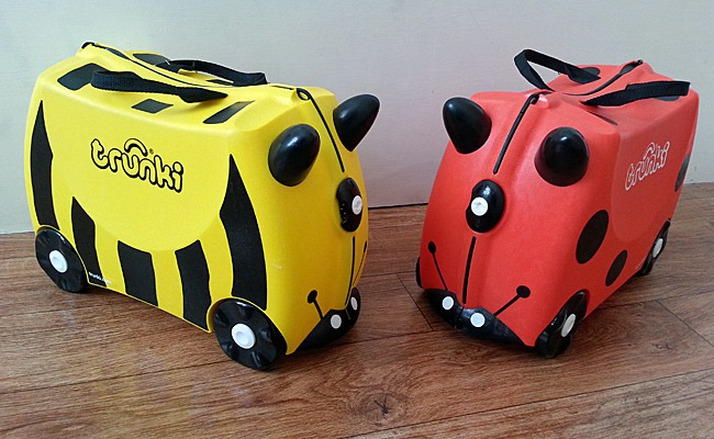 Two Trunki suitcases.