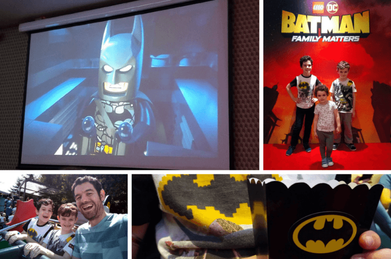 Four photos from a screening of LEGO DC: Batman Family Matters.