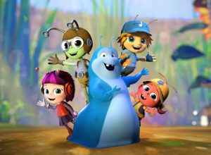 The main characters from Beat Bugs. A Netflix Original series.