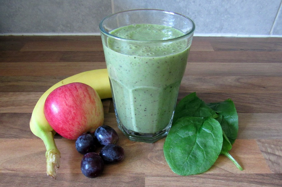 A green smoothie.