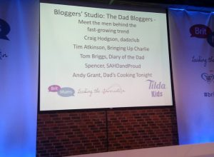 The stage at BritMums Live.