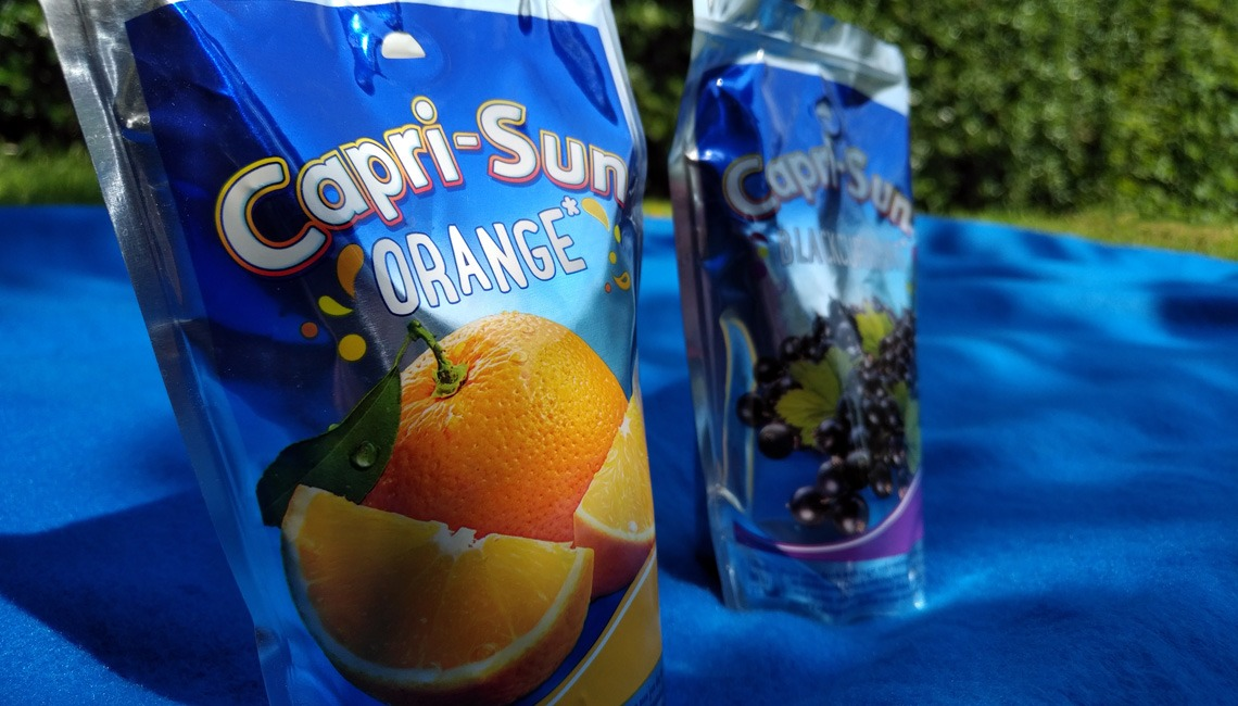 Two pouches of Capri-Sun.