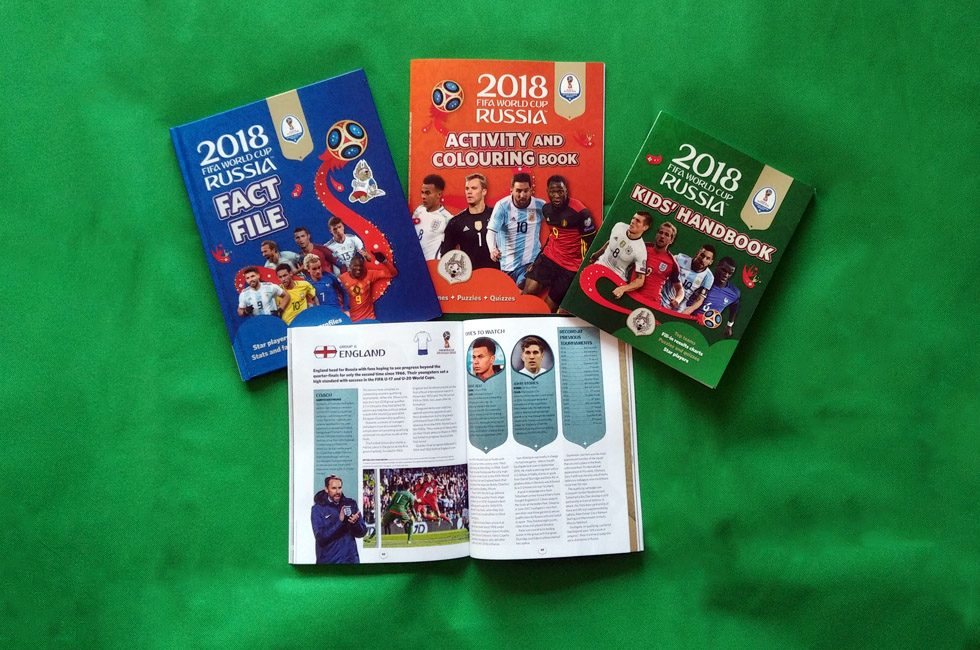 Carlton's range of 2018 FIFA World Cup Russia books.