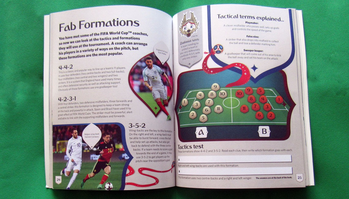 The 2018 FIFA World Cup Russia Kids' Handbook.