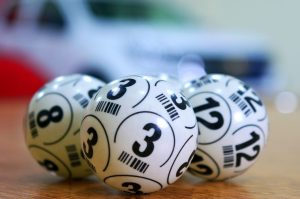 Three bingo balls.