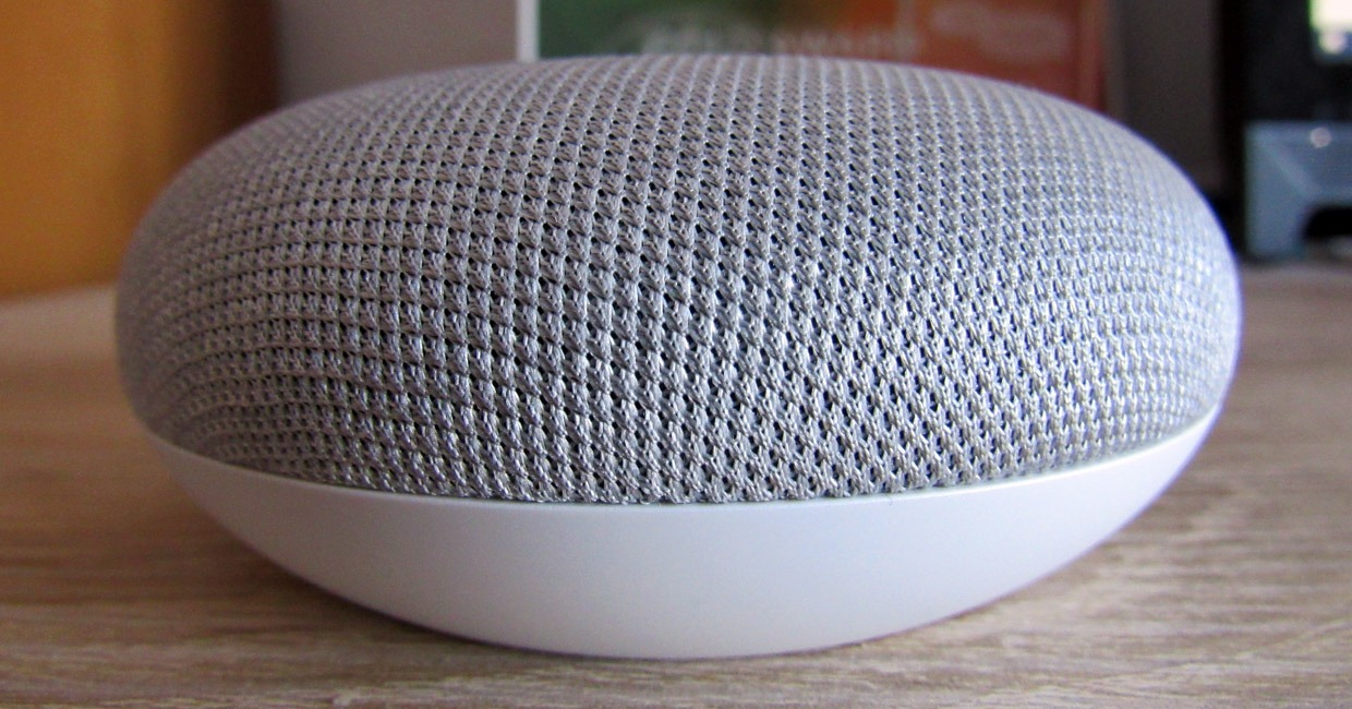 The Google Home Mini.