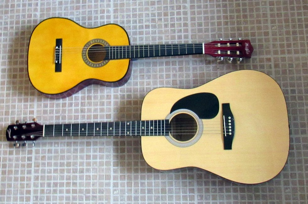 Two guitars.