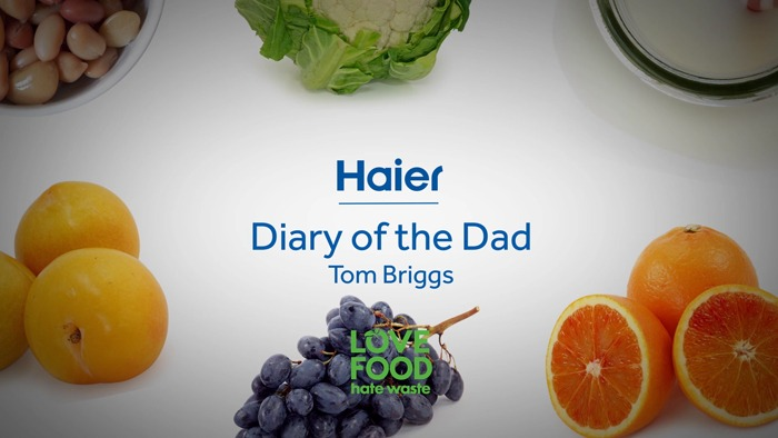A screenshot of an expert feedback video title, naming Haier and Diary of the Dad.