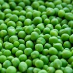 A close-up of peas. The Princess and the Peas.