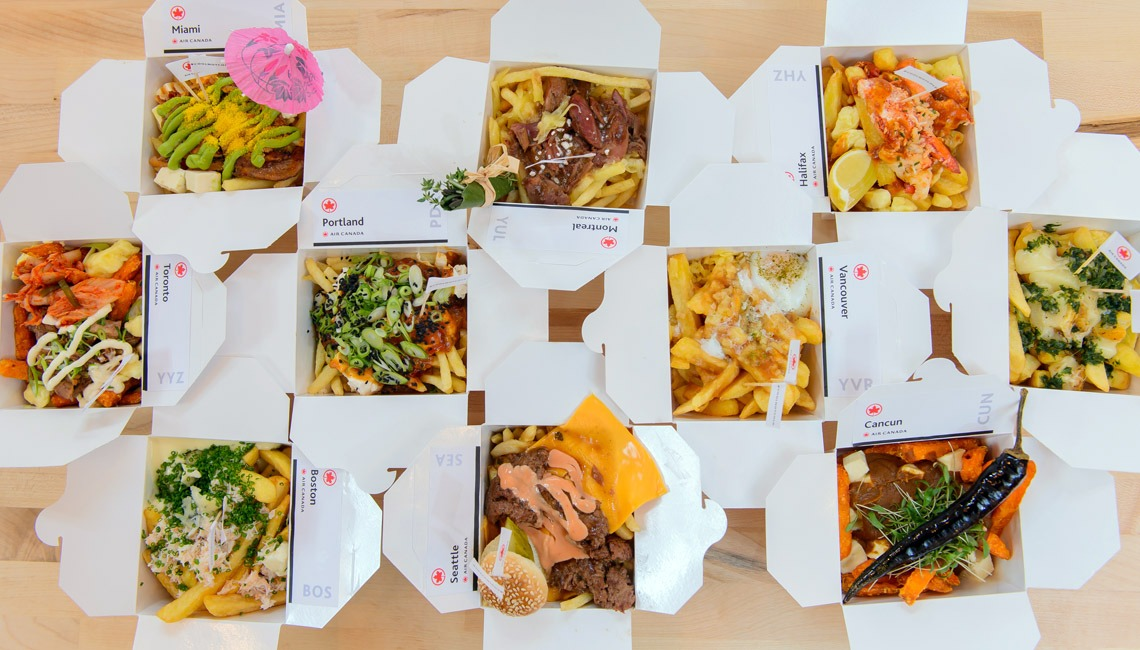A selection of Poutine dishes.