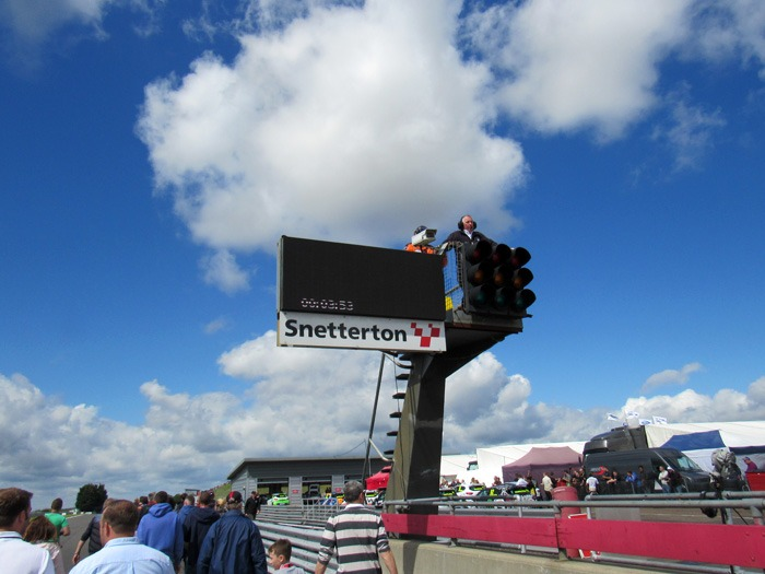 The front of the grid at Snetterton.