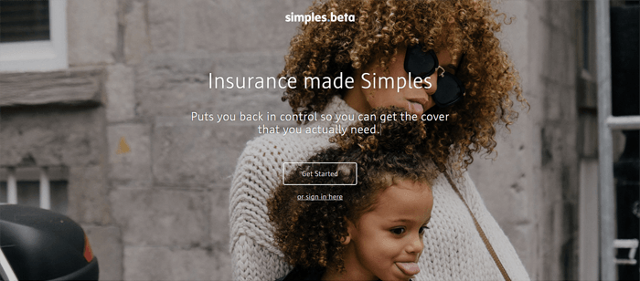 The Simples home page.
