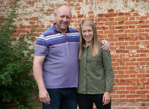 Flo Allen and her father Rob. The focus of SSE's latest Dads and Daughters campaign.