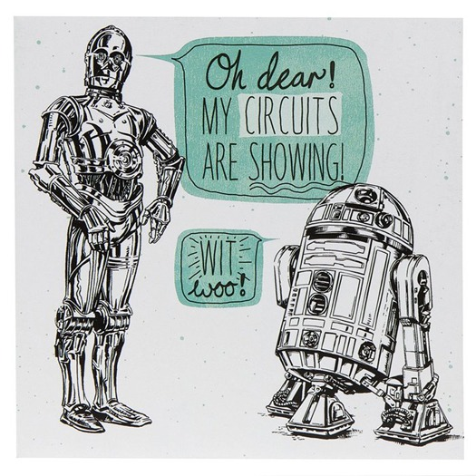 A Star Wars card by Hallmark.