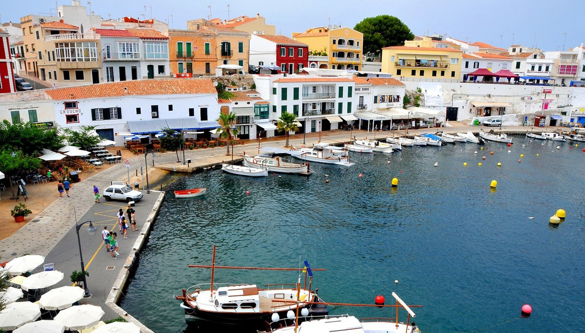 A waterfront in Menorca.