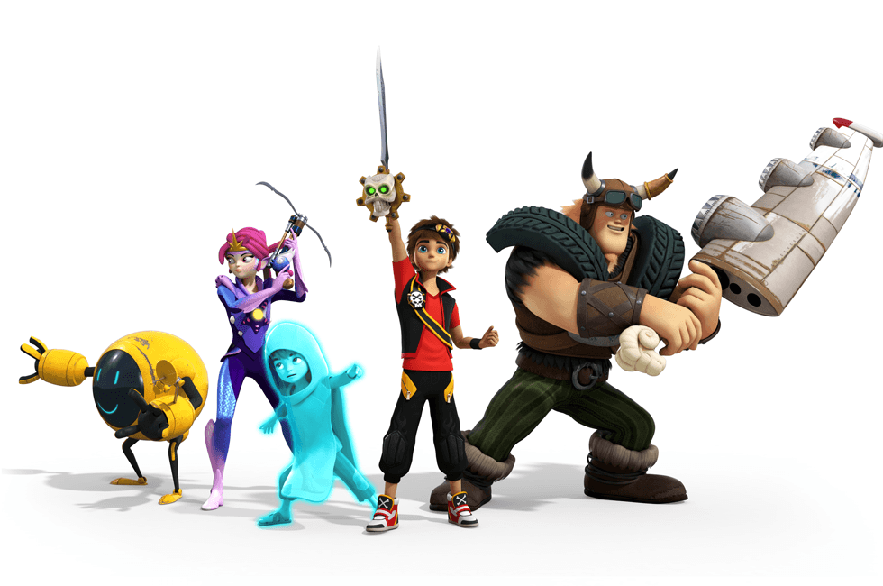 The characters from Zak Storm on POP.